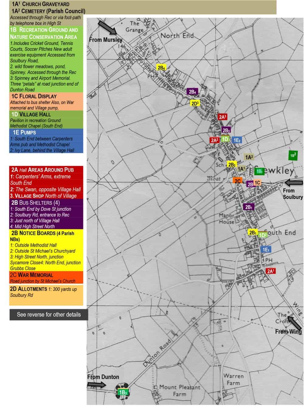 best kept village 2019 Stewkley entry map