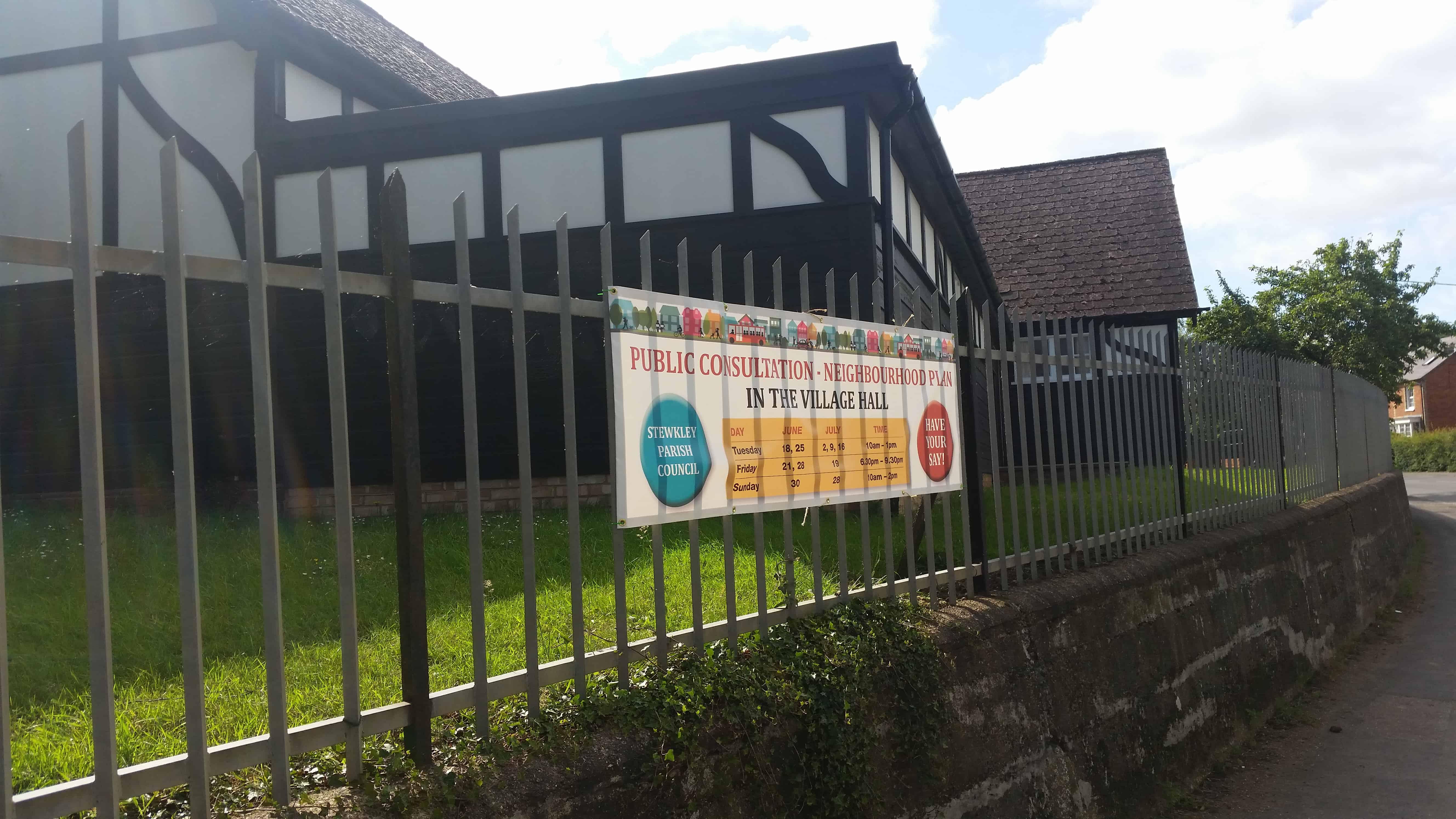 Public consultation banner