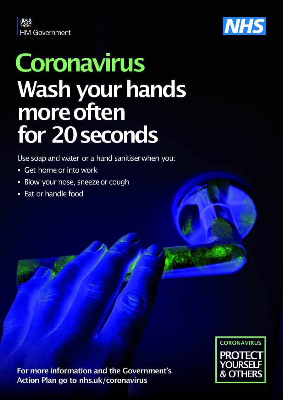 Coronavirus hand washing poster
