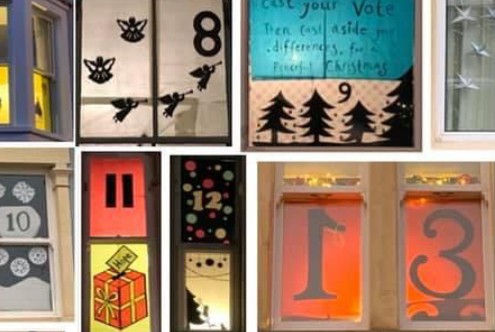 Advent calendar window displays