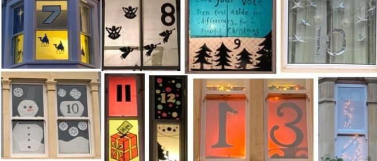 Advent calendar window displays